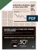 Descenso de Producción Industrial 10% Marzo 2012