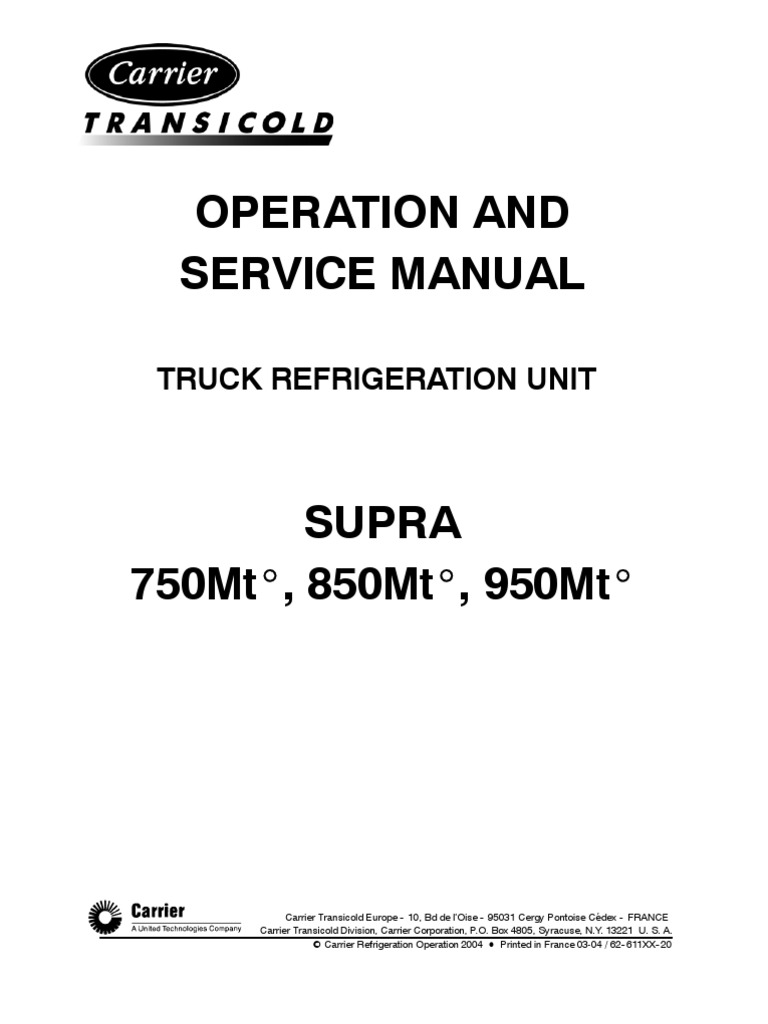 1510034077 carrier o & s manual supra 750mt 850mt 950mt preliminary hvac  at n-0.co