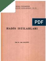 HADİS ISTILAHLARI (Terimleri) Talat Koçyiğit