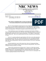 Ml120890550 - Nrc Issues Confirmatory Action Letter for San On of Re Nuclear Generating Station Restart Preparations