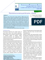 Phytochemical Screening and Extraction a Review