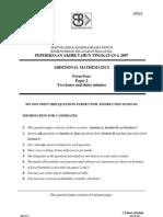 SBP F4 P2 Final Exam 2007