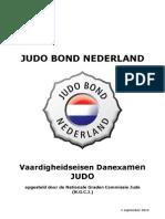 Vaardigheidseisen Danexamen Judo Vanaf 1 September 2012
