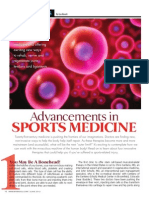"""ADVANCEMENTS IN SPORTS MEDICINE"""