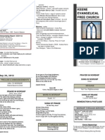 Church Bulletin -May 20th