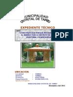 Memoria Descriptiva Del Expediente Tecnico Ie 36500 Tantarcancha