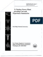 ML040070512 - U.S. Nuclear Power Plant Operating Cost And Experience Summaries