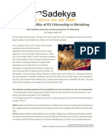 The Desirability of the US Citenzenship is Shrinking PDF