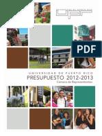 Presupuesto UPR 2012-2013