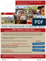 Invitation ISEAS Singapore :THE MYANMAR FORUM 2012 FRIDAY, 8 JUNE 2012