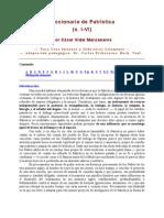 Diccionario De Patristica