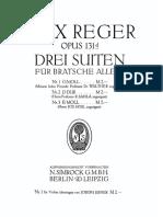 Max Reger Suites for Viola