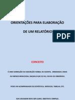 Estrutura do Relatório das Aulas Externas(campo)