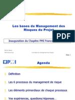 Management Des Risques Du Projet Pmi Centre Est