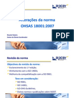 OHSAS 18001 - 2007 - Upgrade