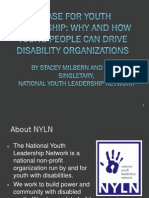 National Youth Leadership Network with Autism NOW May 8, 2012