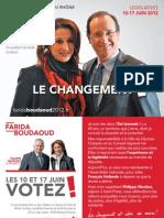 Carte postale n°2 de Farida BOUDAOUD, candidate aux législatives dans la 13e circonscription du Rhône, 10-17 juin 2012