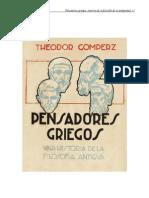Gomperz, Theodor - Pens Adores Griegos