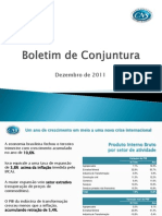 Conjuntura Econômica em Serviços Dezembro 2011