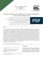 Numerical Methods - Simulation Clarifier