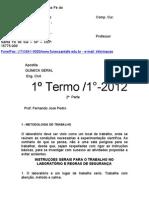 Apostila de química inorgânica -Eng. Civil 2012 2 parte