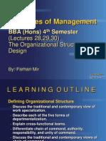 Management BBA (Hons) 4th Lec 252627 Org St & Design