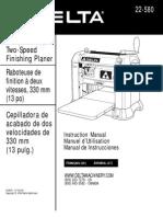 Delta Planer Manual