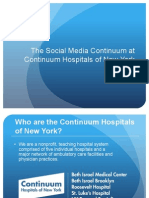 The Social Media Continuum at The Continuum Hospitals of New York
