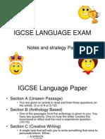 IGCSE Language Paper