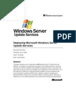 Deploying WSUS Server