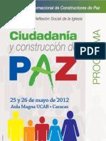Programa III Encuentro Internacional de Constructores de Paz