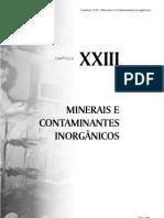 cap23 MINERAIS E CONTAMINANTES INORGÂNICOS