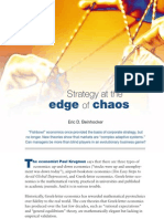 Strategy at the Edge of Chaos