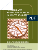 3869568 Politics and Paliamenterians in Kenya