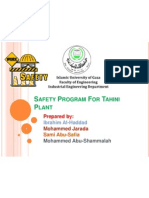 Safety Program for Tahini Plant