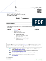 Bonn Climate Change Talks – Daily Schedule – May 18th, 2012