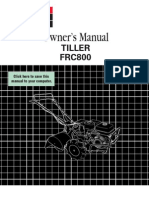 Honda FRC800 Tiller Owners Manual