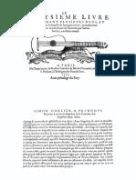 Facsimile 1551 Guillaume Morlaye Livre III Guiterne