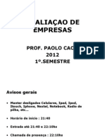 AVALIAÇÃO DE EMPRESAS_2012_1o.SEMESTRE A