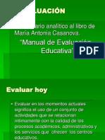 Comentario Analitico de Evaluacion Educativa