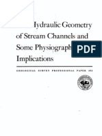 (040) the Hydraulic Geometry of Stream Channels and Some Physiographic Implications
