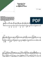 Concerto for Solo Piano in Eighteen Parts