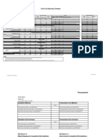 Final Cost Reporting Template