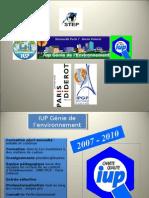 """Présentation IUP """"Génie environnement"""" - Université Paris Diderot"""