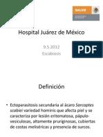 Hospital Juárez de México escabiosis