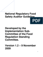 National Regulatory Food Safety Auditor Guideline