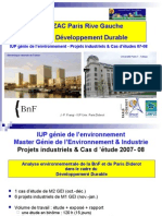 """Projets industriels et cas d'études 07-08, IUP """"Génie environnement"""""""