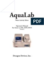 AquaLab 4 Water Activity Meter Manual