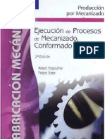 Mec Ejecución y procesos de mecanizado, conformado y montaje
