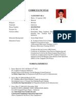 Curriculum Vitae Baju Putih